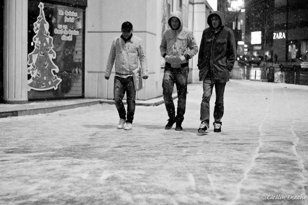 Ninge cu fulgi mari…in Bucuresti | Fotografie urbana | Catalin Enache