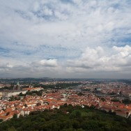 Praga / Prague / Praha - dealul Petrini - vedere turnul Eiffel