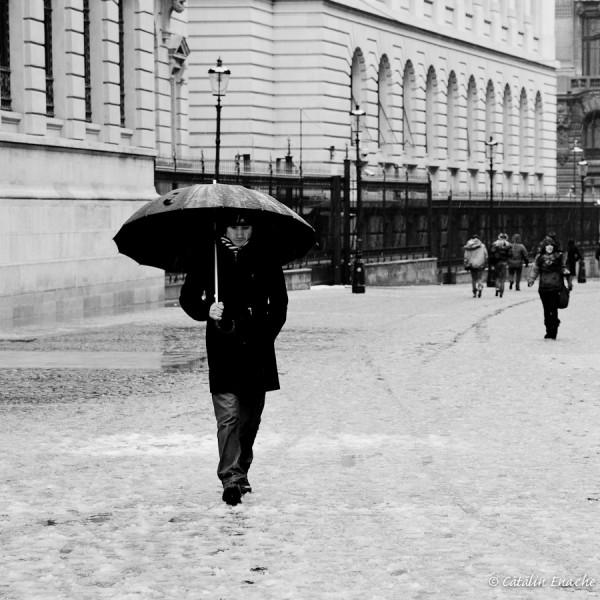 Prima ninsoare din iarna asta, in Bucuresti | Fotografie urbana | Catalin Enache