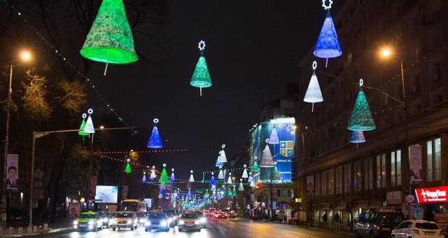Lumini de sarbatori in Bucuresti